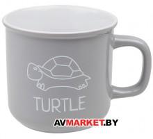 Кружка керамическая 450мл серия Черепаха серая PERFECTO LINEA 30-145029