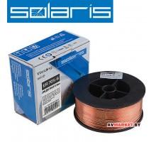 Проволока сварочная омедненная ER 70S-6 ф0,8мм (катушка D100 1кг) SOLARIS Китай