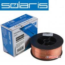 Проволока сварочная омедненная ER 70S-6 ф0,8мм (с газом катушка D100 1кг) SOLARIS Китай