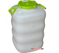Бак для жидкостей пластм. с крышкой и ручками 80 л. М6005 Россия