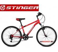 Велосипед Stinger 24 Caiman 12.5 красный TY21/TZ30/TS38.24SHV CAIMAN 12RD8 Россия