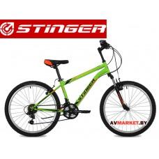 Велосипед Stinger 24 Caiman 14 зелёный TY21/TZ30/TS38.24SHV CAIMAN 14GN8 Россия