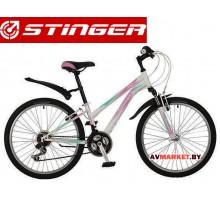 Велосипед Stinger 24 Latina 14белый TZ30/TY21/RS35 # 117377 24SHV Latina 14WH7 Россия