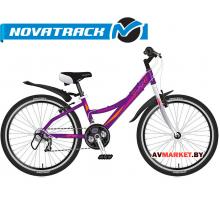 Велосипед NOVATRACK 24 Lady фиолетовый рама алюм Shimano 21 speed FT35TZ30RS35SG-7Si #11037 Росси