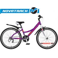 Велосипед NOVATRACK 24 Lady фиолетовый рама алюм Shimano 21 speed FT35-TZ30-RS35-SG-7Si 11037 Росси