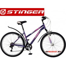 Велосипед Stinger 26 Latina 17 фиолетовый TZ30/TY21/RS35 # 117314 26SHV Latina 17VT7 Россия