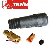 Разъем сварочный 10-25мм 2 D*25 TELWIN (папа)