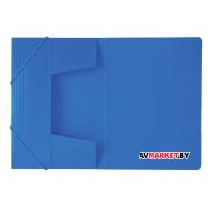 Папка на резинках BRAUBERG Office синяя до 300 листов 500мкм 227712 Россия