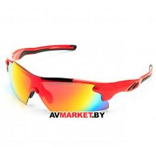 Очки солнцезащитные 2K S-14058-B (красный глянец/красный revo) 5918 Тайвань