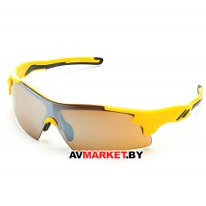 Очки солнцезащитные 2K S-14058-B (желтый/дымчатые зеркальные) 3632 Тайвань
