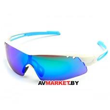 Очки солнцезащитные 2K S-15002-G (белый глянец/зеленые revo) 3636 Тайвань