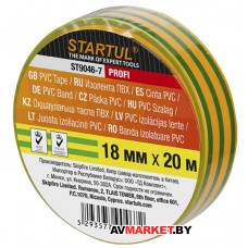Изолента ПВХ 18ммх20м желто-зеленая STARTUL PROFI ST9046-7 Китай