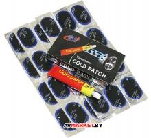 Ремкомплект аптечка для ремонта камеры 24 шт. клей Китай RS24L VAL-2-15748 VAL-15874-1 овал