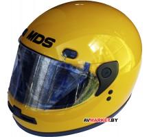 Шлем мото Секо Интеграл желтый 54р.