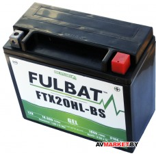 Аккумулятор FULBAT GEL FTX20HL-BS 175*87*155 18Ач -/+ 550924 Китай
