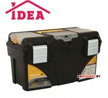 Ящик для инструмента пластмассовый ГЕФЕСТ 18 мет. замки (с коробками) арт М2942 (Россия)