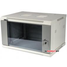 Шкаф настенный серии Pro, 6U 600x600, стеклянная дверь арт. TWT-CBWPG-6U-6x6-GY Китай