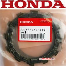 Диск сцепления фрикционный HONDA HS 622 22201-743-003