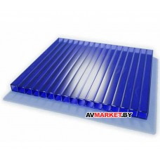 Сотовый поликарбонат 6мм Синий 2100*6000 РФ 4630017361311
