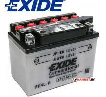 Convertional EB4L-B Аккумулятор мотоциклетный Exide Convertiona 4 Ah (EB4L-B) (50A 120х70х95) Белару