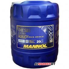 Масло моторное полусинтетическое универсальное всесез. Mannol Diesel Extra SAE10w40 API CH-4/SL20л