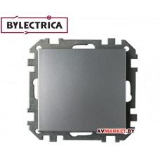 Выключатель 1 клав. скрытый 10A серебро Стиль Bylectrica C1 10-525cep