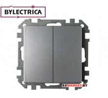 Выключатель 2 клав. скрытый 10A серебро Стиль Bylectrica C2 10-525cep
