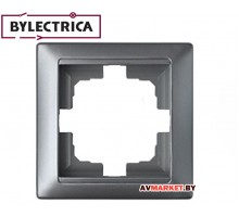 Рамка 1-местная серебро Стиль Bylelectrica ЮЛИГ.735212.206сер