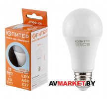 Лампа светодиодная A60 СТАНДАРТ 11 Вт 170-240В E27 4000K ЮПИТЕР JP5081-08
