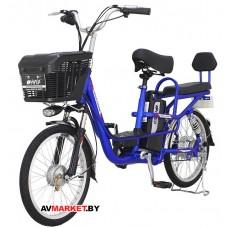 "Электровелосипед HIPER Engine BS265 20"" 400Вт мотор 375Втч батарея амортизаторы синий 9100109748290"