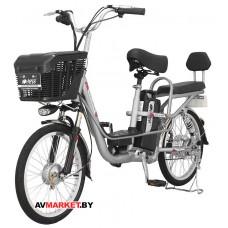 "Электровелосипед HIPER Engine BS265 20"" 400Вт мотор 375Втч батарея амортизаторы серебр 9100109748313"