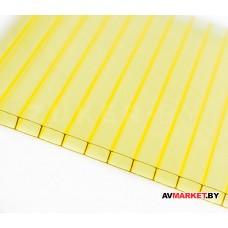 """Сотовый поликарбонат """"Master"""" 8,0*2100*6000мм желтый"""