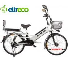 Электровелосипед (велогибрид) Green City E-Alfa серебристый 0277