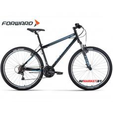 """Велосипед Forward Sporting 27.5 1.0 (27.5"""" 21ск рост 15"""") черный/бирюзовый RBKW0MN7Q011"""