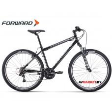 "Велосипед Forward Sporting 27.5 1.0 (27.5"" 21ск рост 19"") черный/серый BKW0MN7Q018"