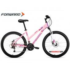 "Велосипед Forward Iris 26 2.0 disc (26"" 18ск рост 17"") розовый 8712003000 RBKW97N6P003"