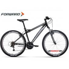 """Велосипед Forward Flash 26 1.0 (26"""" 21ск рост 15"""") черный/серый RBKW0MN6Q002"""