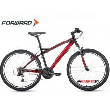 """Велосипед Forward Flash 26 1.0 (26"""" 21ск рост 17"""") черный/красный RBKW0MN6Q007"""