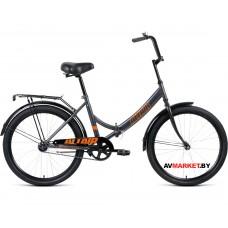 "Велосипед ALTAIR City 24 скл. (24"" 1ск рост 16"") серый/оранжевый RBKT0YN41003"