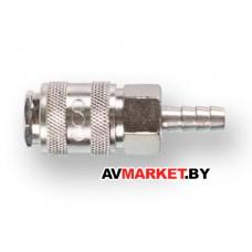 Соединение быстросъем МАМА х елочка 8мм (сталь) ECO AS-F/E08 Китай