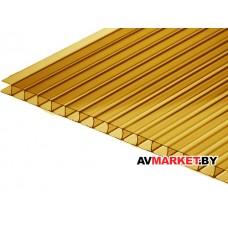 Сотовый поликарбонат 4мм (светлая бронза 7,56) GOLD BORREX РФ