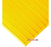 Сотовый поликарбонат ULTRAMARIN/SOTALUX 4мм (желтый) 2100*6000 мм сиб тепл