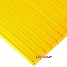 Сотовый поликарбонат ULTRAMARIN/SOTALUX/MASTER 4мм (желтый) 2100*6000 мм сиб тепл