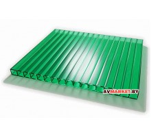Сотовый поликарбонат 4мм (зеленый сиб тепл 7,56)