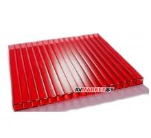 Сотовый поликарбонат 4мм (красный сиб тепл) SOTALUX 6000*2100 РФ