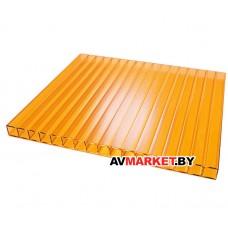 Сотовый поликарбонат 4мм (оранж)