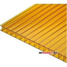Сотовый поликарбонат 4мм (прозр. 7,56) GOLD
