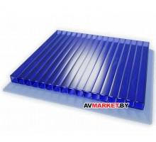 Сотовый поликарбонат 4мм (синий сиб тепл) IZOPOL 6000*2100 РФ