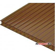Сотовый поликарбонат 6мм (коричневый ЭКО т 11,97
