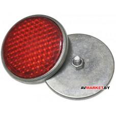 Катафот вело задний (красный) круг метал